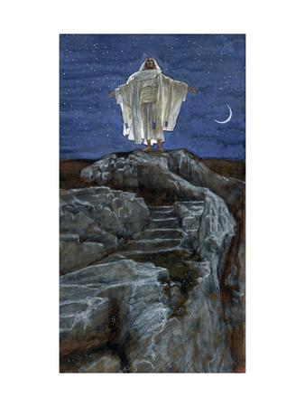 Christ Going Out Alone into a Mountain to Pray, Illustration for 'The Life of Christ', C.1886-94