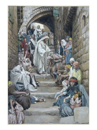 In the Villages the Sick Were Brought Unto Him, Illustration for 'The Life of Christ', C.1886-94