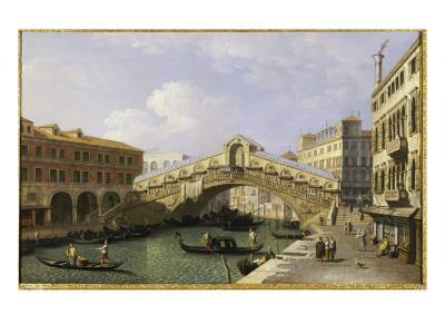 The Rialto Bridge Venice from the South with the Fondamenta Del Vin and the Fondaco Dei Tedeschi