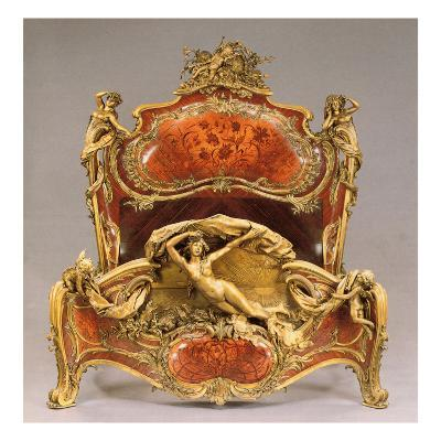 A Louis Xv Style Ormolu-Mounted Tulipwood, Kingwood and Marquetry Grand Lit De Reposes, 1895