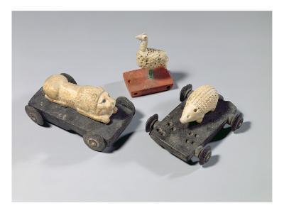 Children's Toys: a Hedgehog, a Lion and a Dove, Susa, Iran, Elamite Period, C.1150 Bc