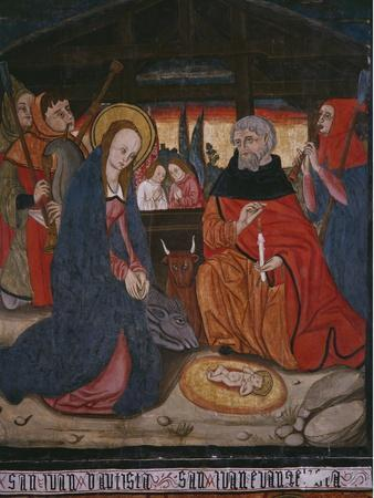 Nativity, Panel from the Church San Andres of Tortura, Late 15th Century-Early 16th Century