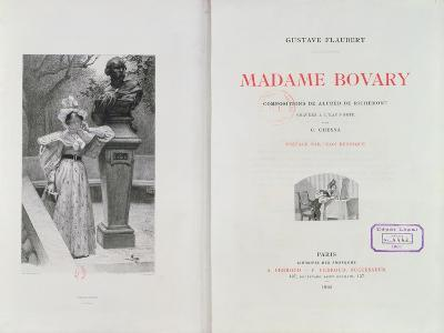 Frontispiece of 'Madame Bovary' by Gustave Flaubert, Engraved by Carlo Chessa