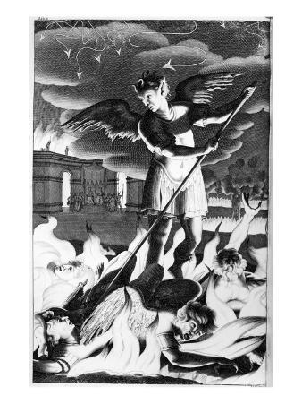 Satan, Illustration from 'Paradise Lost' by John Milton, Fourth Edition 1688