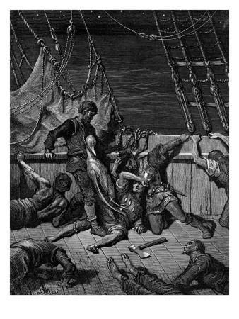 The Sailors Curse the Mariner, Forced to Wear the Dead Albatross around His Neck