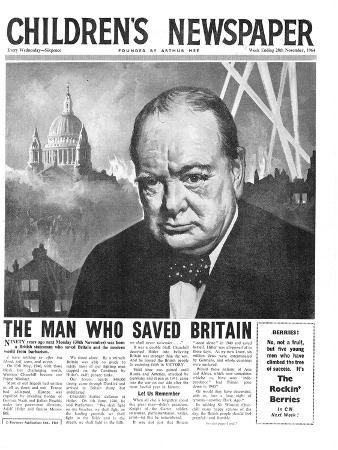 Winston Churchill: the Man Who Saved Britain, Front Page of 'The Children's Newspaper'