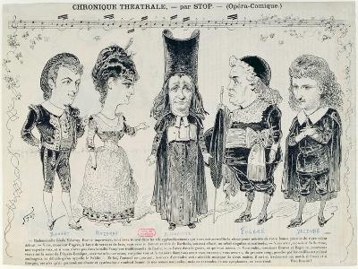 Five Caricatures of the Cast of a French Production of 'The Barber of Seville'