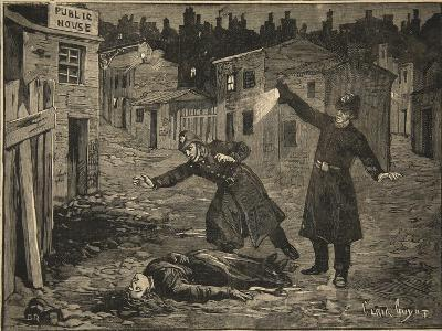 A Street in Whitechapel: the Last Crime of Jack the Ripper, from 'Le Petit Parisien', 1891