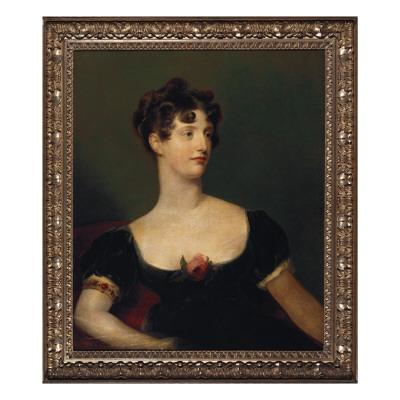 Portrait of Lady Beresford, Seated, Half-Length in a Black Dress Decorated with a Rose