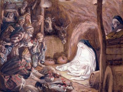 The Adoration of the Shepherds, Illustration for 'The Life of Christ', C.1886-94