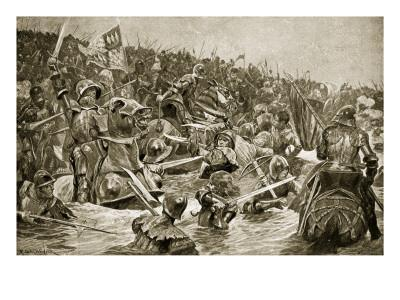 The Battle of Towton, Illustration from 'Hutchinson's Story of the British Nation', C.1923