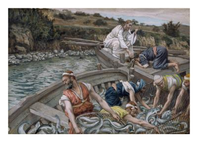 The First Miraculous Draught of Fish, Illustration for 'The Life of Christ', C.1886-94