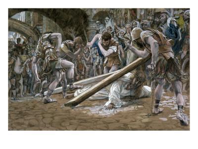 Christ Falls Beneath the Cross, Illustration for 'The Life of Christ', C.1884-96