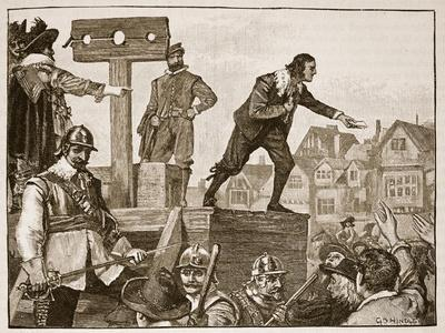 John Lilburne on the Pillory, Illustration from 'Cassell's Illustrated History of England'