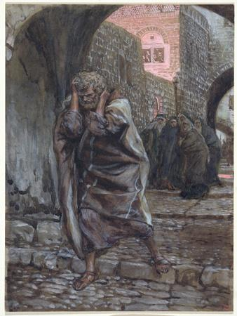 Peter Went Out and Wept Bitterly, Illustration for 'The Life of Christ', C.1886-94