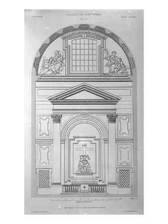 Chapel of the Pieta in St.Peter's, Rome, Engraved by Jean Joseph Sulpis, Published 1882