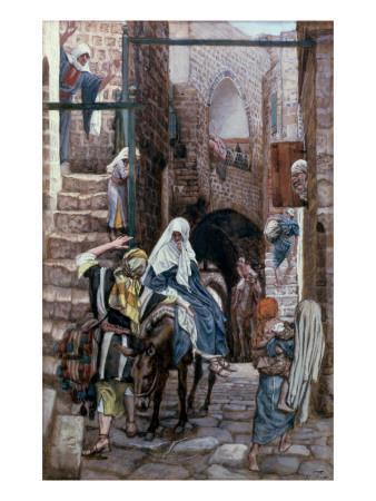 St. Joseph Seeks Lodging in Bethlehem, Illustration for 'The Life of Christ', C.1886-94