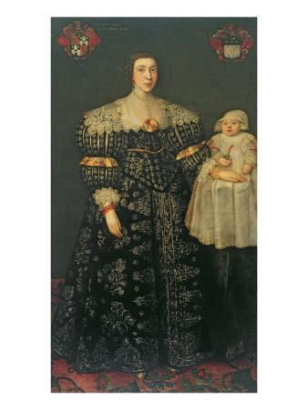 Double Portrait of Mary, Lady Bowes, Aged 24, and Her Eldest Son, Thomas, 1630