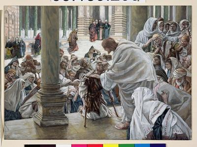 The Healing of the Lame in the Temple, Illustration for 'The Life of Christ', C.1886-94