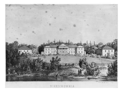 The Castle of Wierzchownia, Residence of Countess Evelina Hanska, Wife of Honore De Balzac