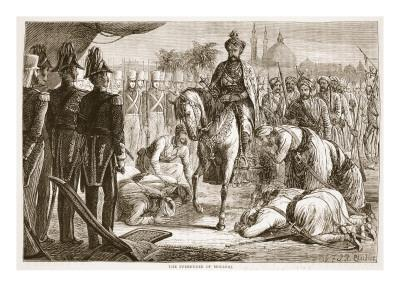 The Surrender of Moolraj, Illustration from 'Cassell's Illustrated History of England'