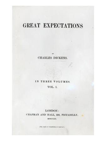Titlepage to Great Expectations by Charles Dickens, First Edition Volume, 1861