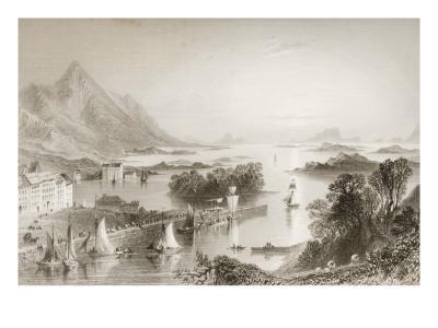 Clew Bay Seen from Westport, County Mayo, from 'scenery and Antiquities of Ireland'