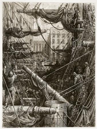 Inside the Docks, from 'London, a Pilgrimage', Written by William Blanchard Jerrold