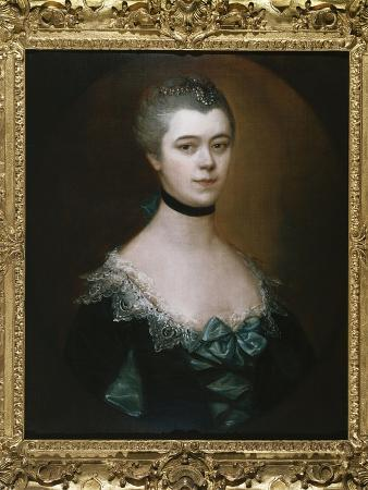 Portrait of the Countess of Sussex, Bust Length, in a Blue Dress with Black Facings
