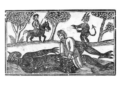 The Gelding of the Devil, an Illustration from 'A Book of Roxburghe Ballads'