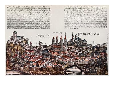The City of Bamberg, from the 'Liber Chronicarum', by Hartmann Schedel, 1493