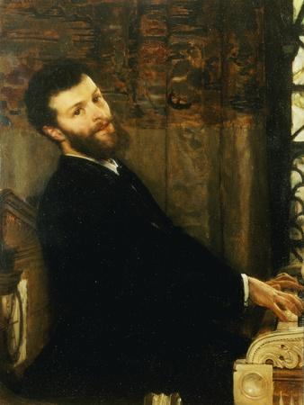 Portrait of the Singer George Henschel Playing Alma-Tadema's Piano, Townshend House, 1879