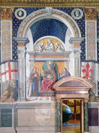 Saints Zenobius, Stephen and Lawrence, Detail from the Fresco in the Sala Dei Gigli, C.1470