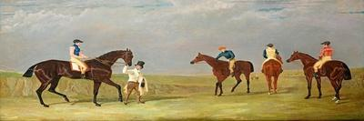 """Preparing to Start for the Doncaster Gold Cup, 1825, with Mr. Whitaker's """"Lottery"""""""
