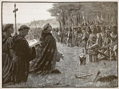 Thanksgiving of the English Army after the Battle of Agincourt, 25th October 1415
