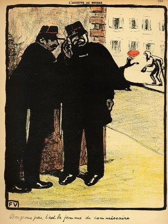 Two Policemen Hide from the Commissioner's Wife, from 'Crimes and Punishments'