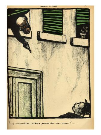 A Bourgeois Fires from His Window on a Passerby, from 'Crimes and Punishments'