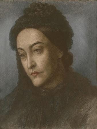 Portrait of Christina Rossetti, Head and Shoulders, Turned Three-Quarters to the Left, 1877