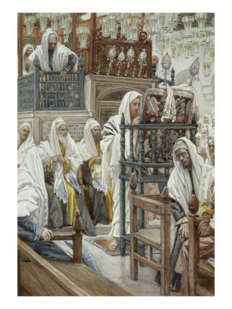 Jesus Unrolls the Book in the Synagogue, Illustration for 'The Life of Christ', C.1886-96