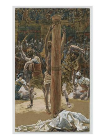The Scourging on the Back, Illustration from 'The Life of Our Lord Jesus Christ', 1886-94