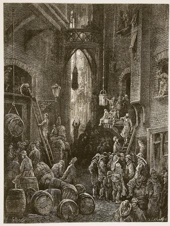 A Riverside Street, from 'London, a Pilgrimage', Written by William Blanchard Jerrold