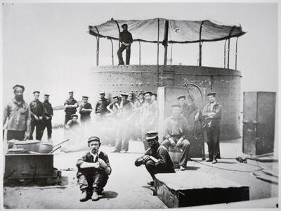 Crew of the Uss 'Monitor' Cooking on Deck on the James River, Virginia, 9th July 1862