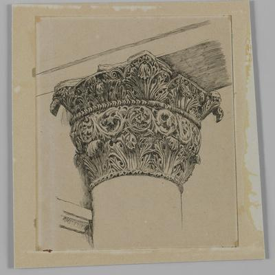 Capital from the Mosque of El-Aksa, Illustration from 'The Life of Our Lord Jesus Christ'