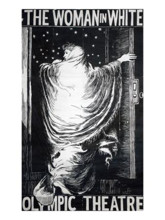 Poster for the Stage Version of 'The Woman in White' by Wilkie Collins, Performed in 1871