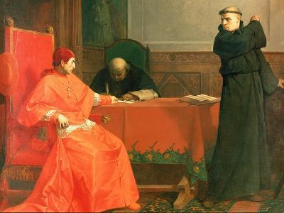 Luther in Front of Cardinal Cajetan During the Controversy of His 95 Theses, 1870