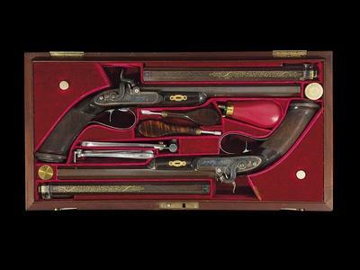 A Cased Pair of 'Best' Percussion Multigroove-Rifled Target Pistols