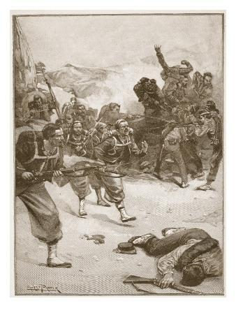 The Zouaves Took One of the Barricades by a Dashing Bayonet Charge