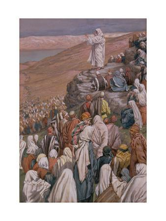 The Sermon on the Mount, Illustration for 'The Life of Christ', C.1886-96