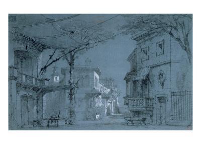 Design for the Set of 'Les Caprices De Marianne' by Alfred De Musset