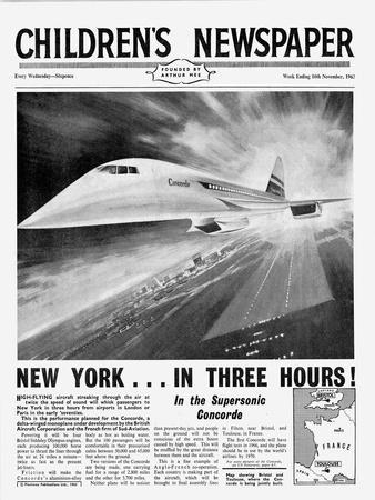 Concorde, Front Page of 'The Children's Newspaper', November 1963